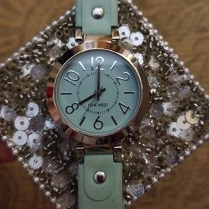 Nine West Mint Green Watch